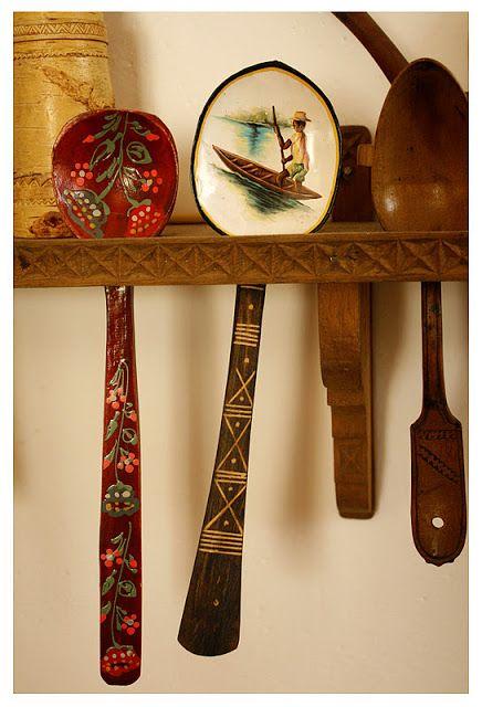 Cinnamon Spiced Art: wood spoon