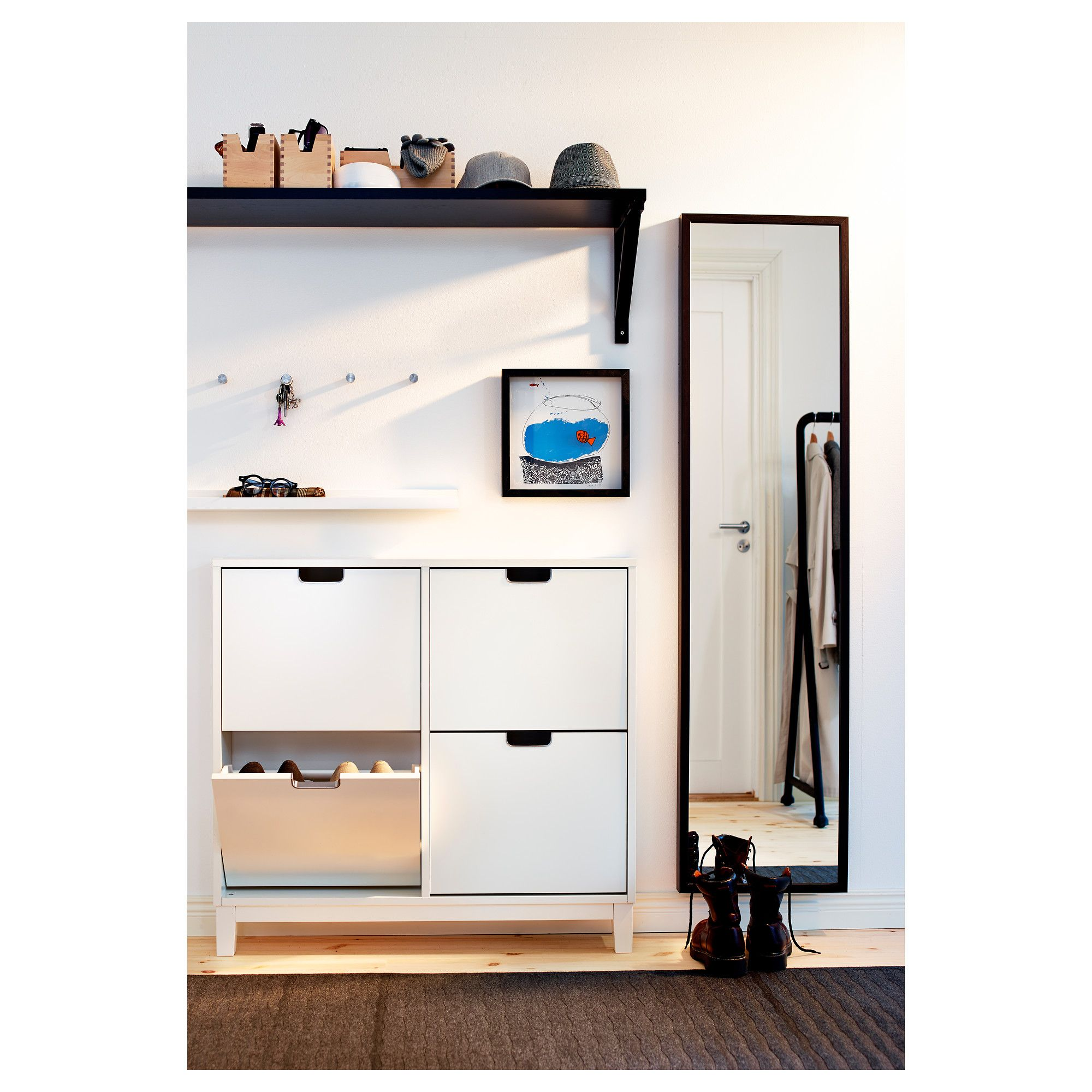 IKEA hallway storage solution