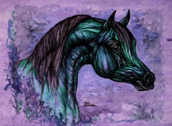 lavender horse Angel T.