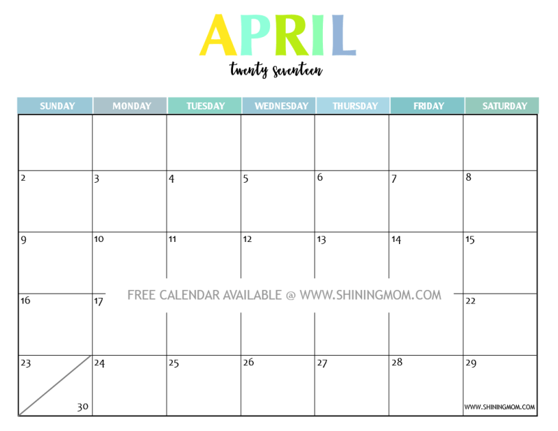 Your Free  Printable Calendar Fun And Colorful  Calendar