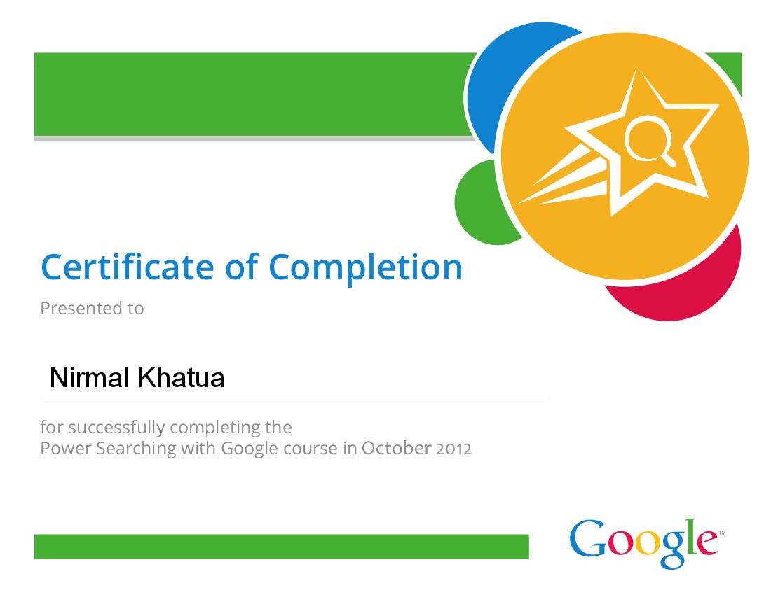 Google Power Searching Certificate Google Pinterest Certificate