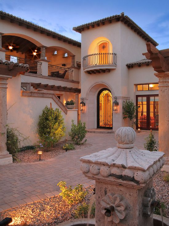 Mediterranean Entry Design Pictures Remodel Decor And Ideas Page 4 Hacienda Style Homes Spanish Style Homes Hacienda Style