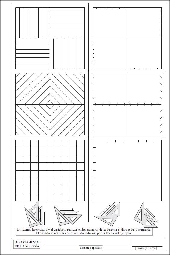 El Nombre De Las Ideas La Escuadra Y El Cartabón Técnicas De Dibujo Dibujo Tecnico Ejercicios Imagenes Para Presentaciones