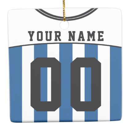Name  Number Soccer Football Jersey Template Ceramic Ornament