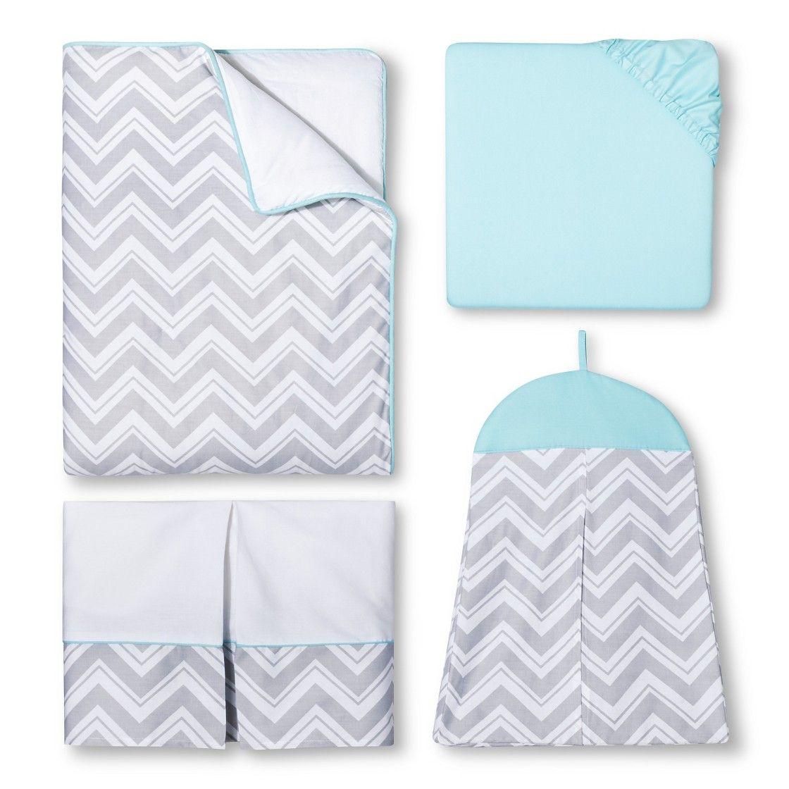 Crib Bedding Set Sweet Jojo Designs Trq Gry Wht 11 Pk Baby Sets