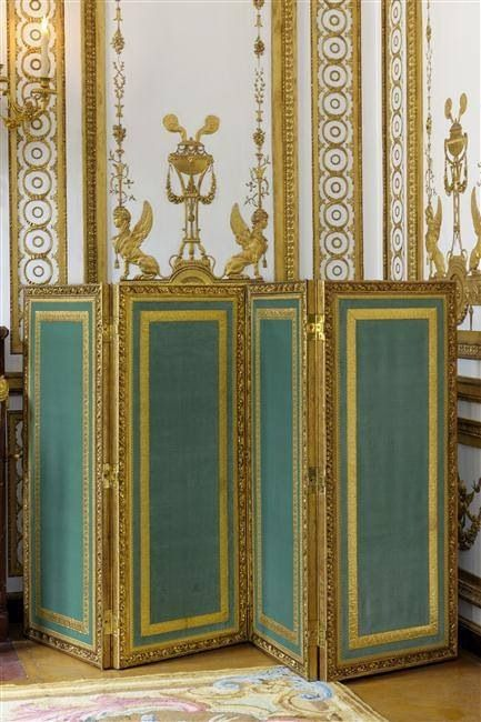 A four-fold screen for the Grand Cabinet of Marie Antoinette at Versailles c. 1783