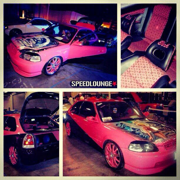 Pin By Lizette Mujica On Cars Honda Civic Hatch Honda Civic Pink Car
