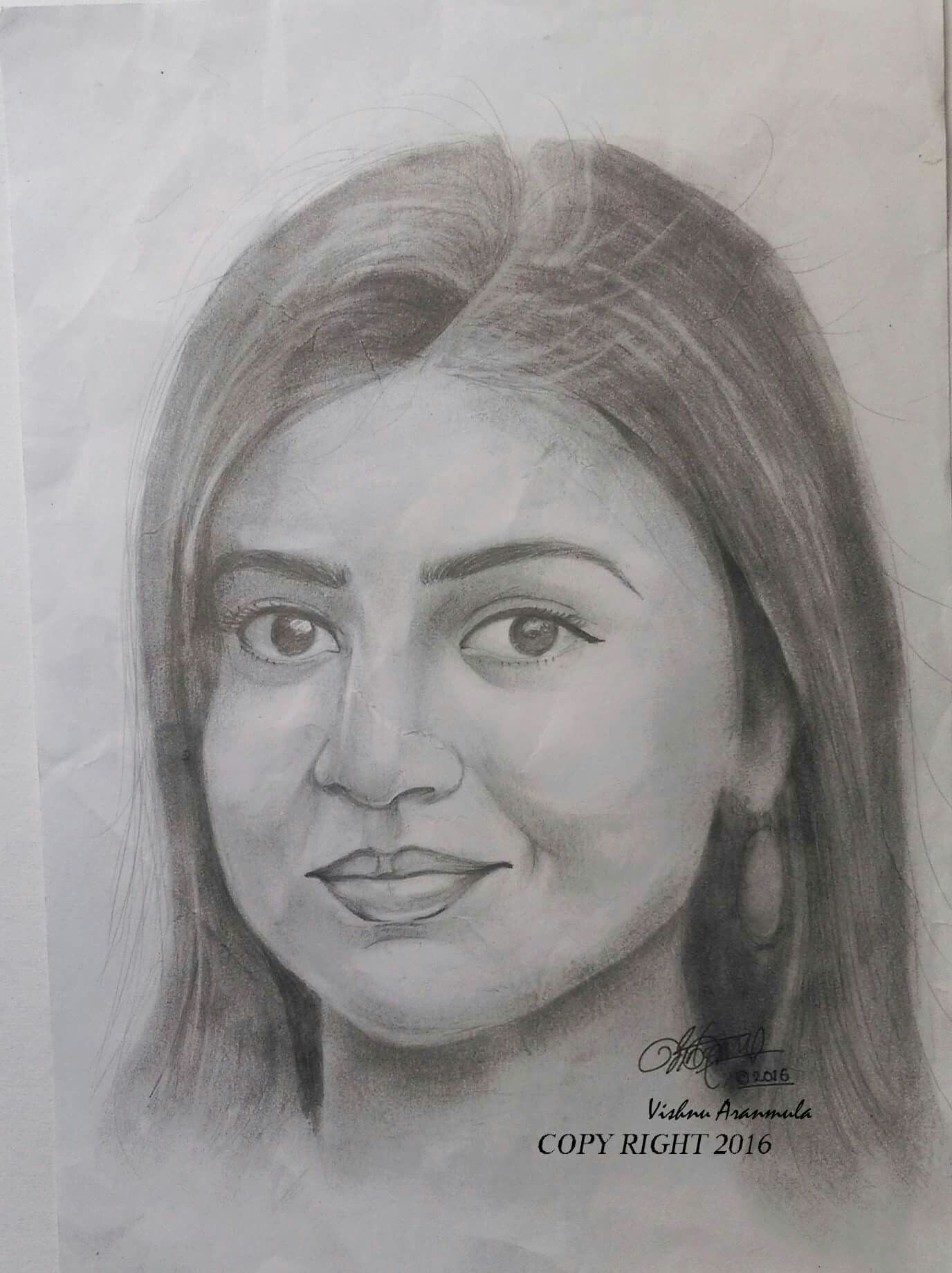 Actress nazriya nazim pencile drawing