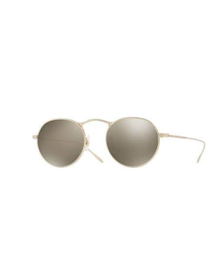 1bed8ab14c67 OLIVER PEOPLES M-4 30TH ANNIVERSARY ROUND SUNGLASSES