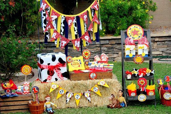 Toy Story Happy Birthday Fabric Banner Girl Birthday Party