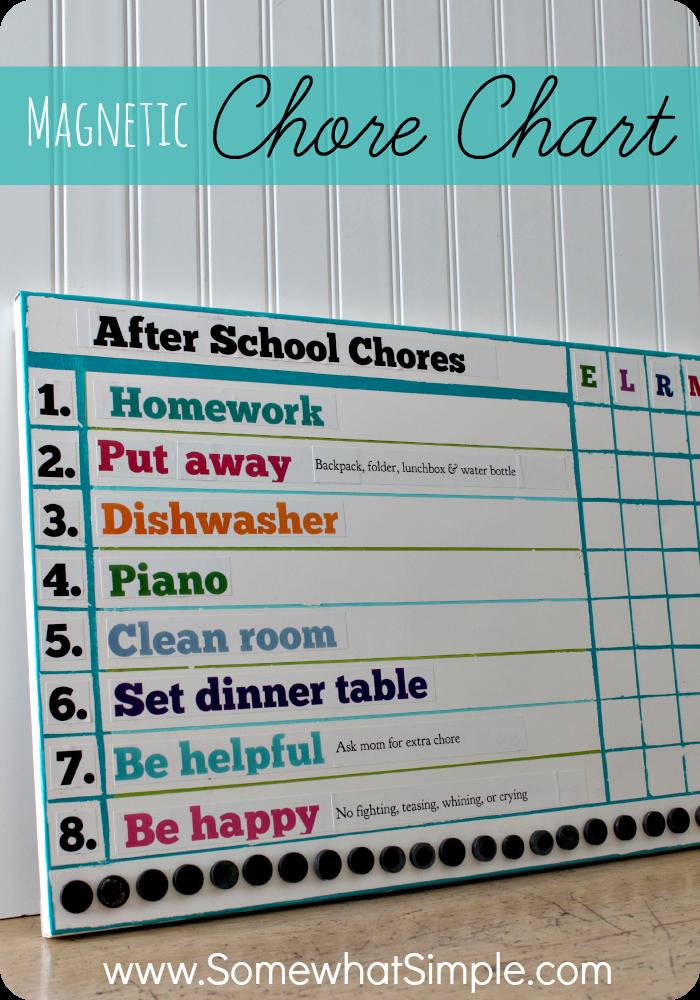 Magnetic Kids Chore Chart Chore Chart Kids Magnetic Chore Chart Chore Chart