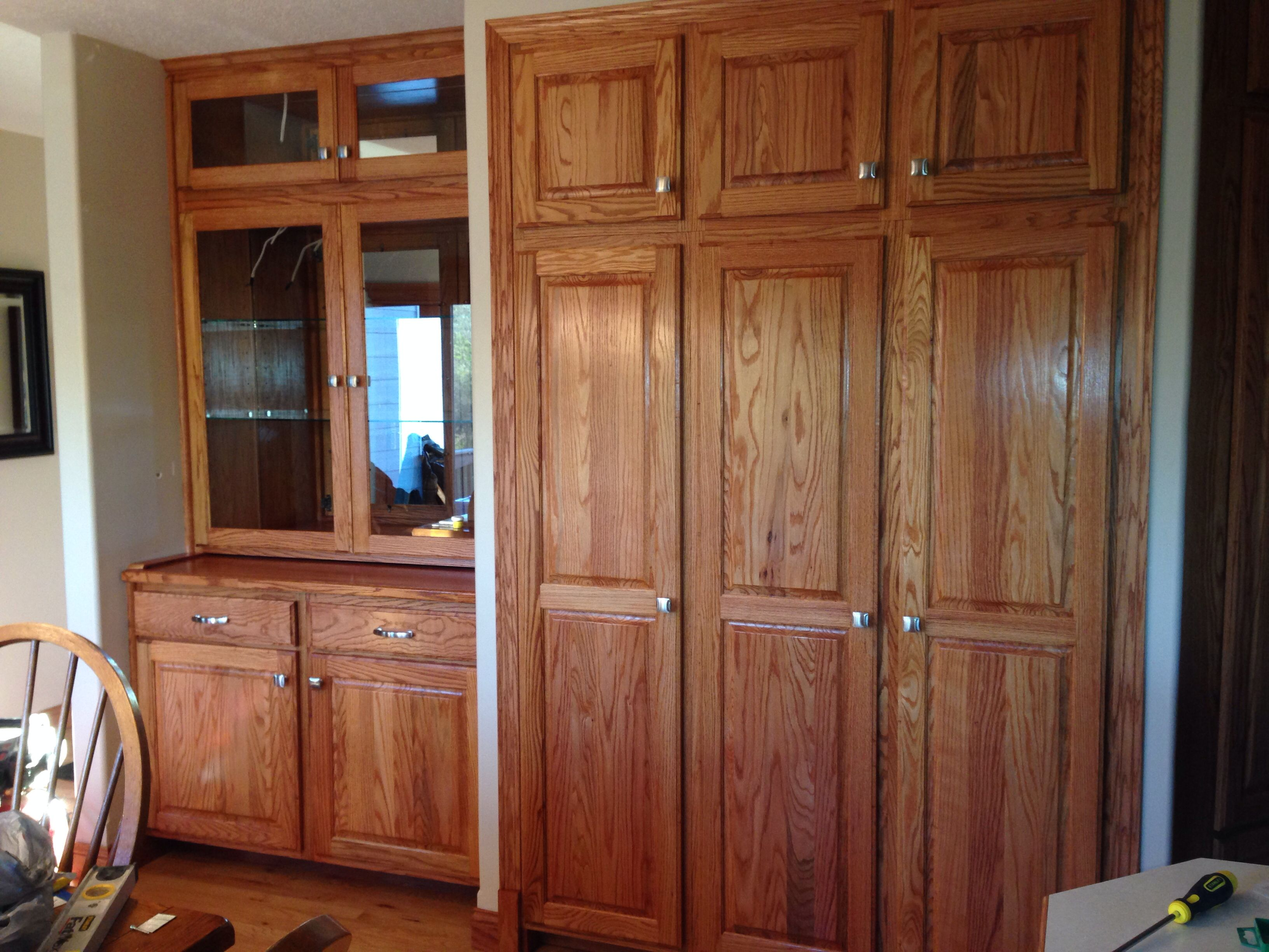 Superieur After, Hutch, New Pantry And Corner Broom Closet