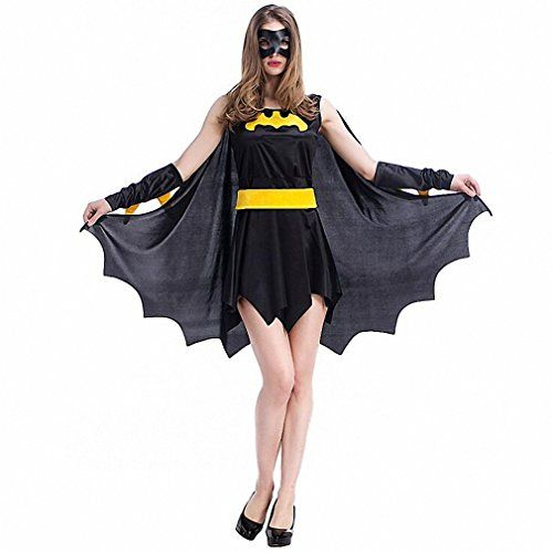 [Halloween Batman Makeup] Black Evil V&ire Bat Costume Women Halloween Witch V&ire Devil Batman  sc 1 st  Pinterest & Halloween Batman Makeup] Black Evil Vampire Bat Costume Women ...
