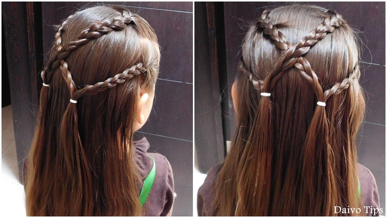 Peinado Fácil Y Rápido Para La Escuela Peinado Con Trenzas Peinados Con Trenzas Trenzas De Niñas Peinados Con Trenzas Para Niñas