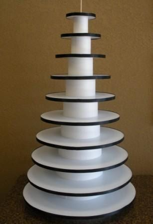 10 Tier Round CupCake Stand CupCake Tower by HelloFaith on Etsy, $109.50