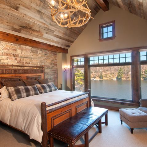 Hunting lodge decor design ideas pictures remodel and for Lodge style bedroom