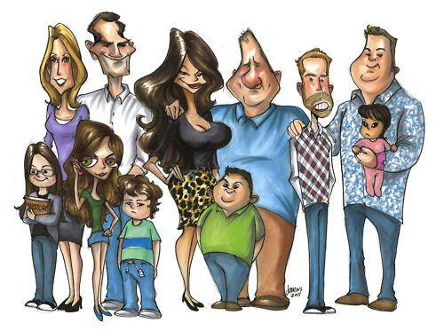 Modern Family Fan Art Modern Family Cartoon Modern Family Modern Family Tv Show Family Cartoon