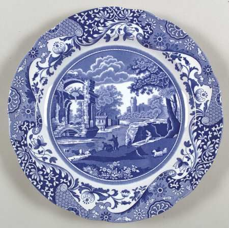 Spode Blue Italian Bread \u0026 Butter Plate 6 inches Made in England prior to their closure in 2009 and move their manufacturing plant in China Added 1 pc.  sc 1 st  Pinterest & BLUE ITALIAN (CAMILLANEWER) - Replacements Ltd. | Blue and White ...