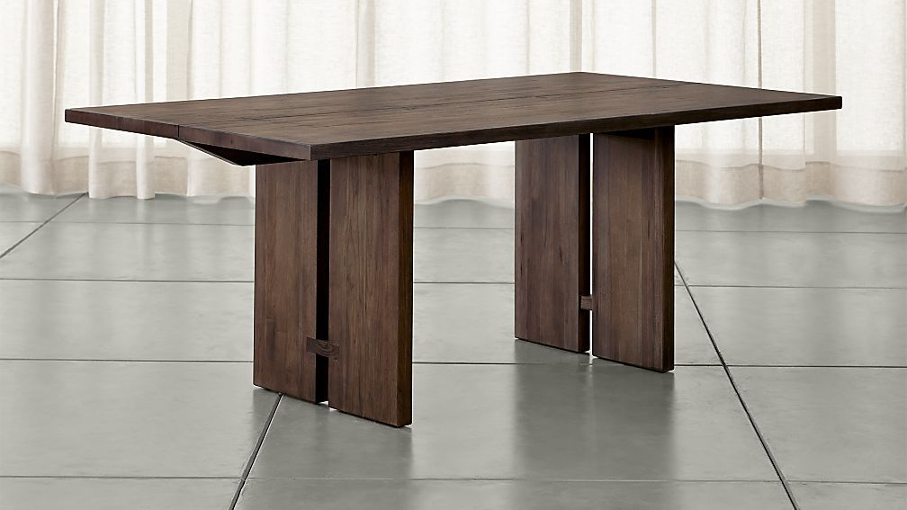 Monarch Shiitake 76 Dining Table Crate And Barrel Dining