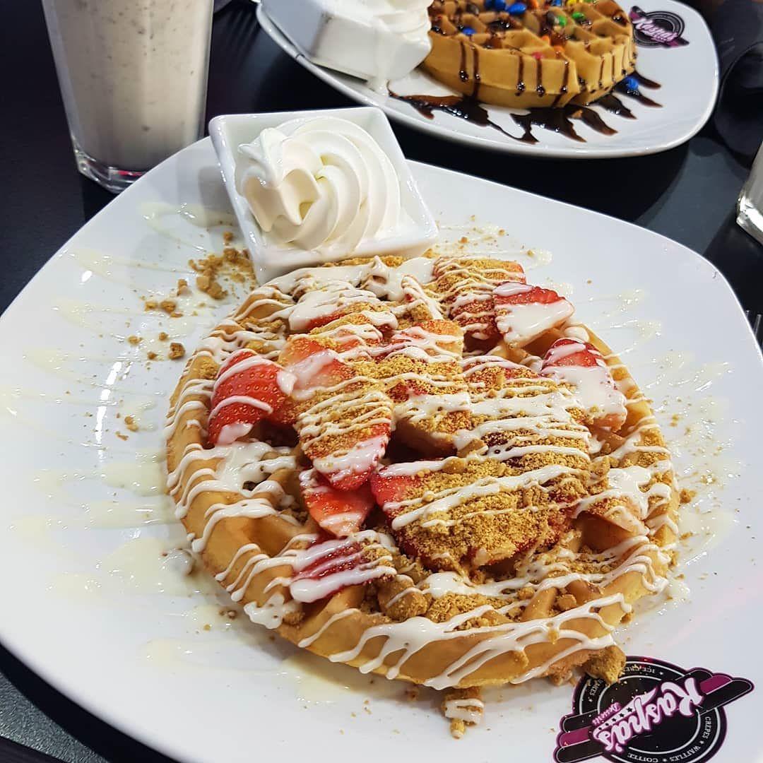 Finally tried Kaspas  So good Strawberry Shortcake Waffle