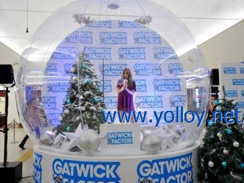 Life Size Snowglobe Clear Inflatable Dome With Images Snow
