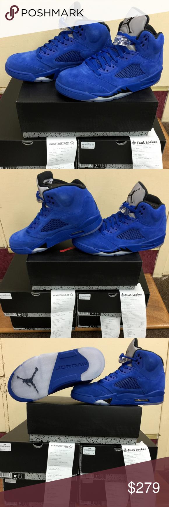 c5408c11a277 Nike Air Jordan V Retro 5 Blue Suede Game Royal New with box  A brand-new