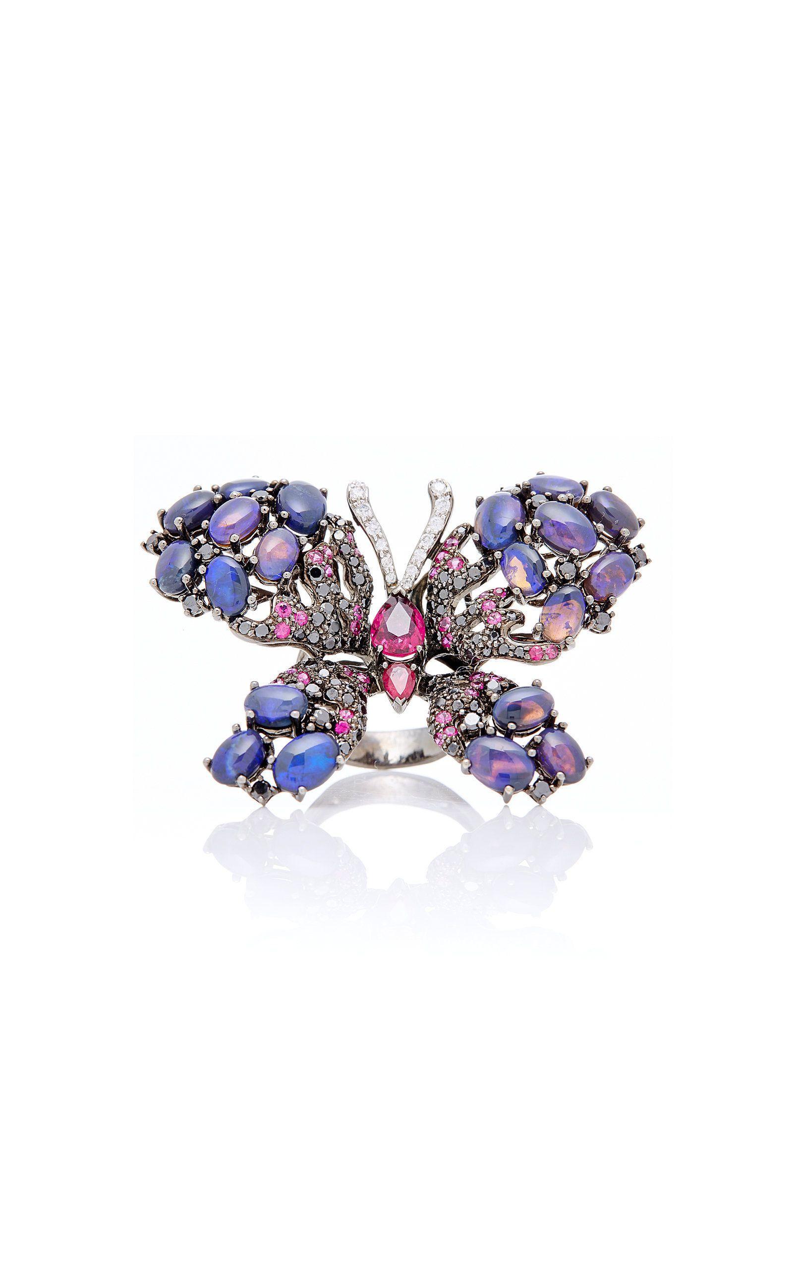 cec4e3bb746 Opal Butterfly Ring   Bees, Bugs, Birds and Butterflies   Butterfly ...