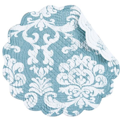 Found it at Wayfair - Providence Reversible Round Quilt Placemat