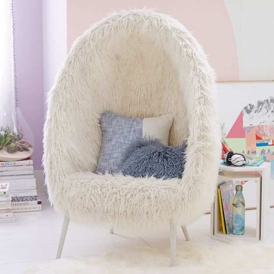 Ivory Furlicious Faux Fur Cave Chair In 2020 With Images
