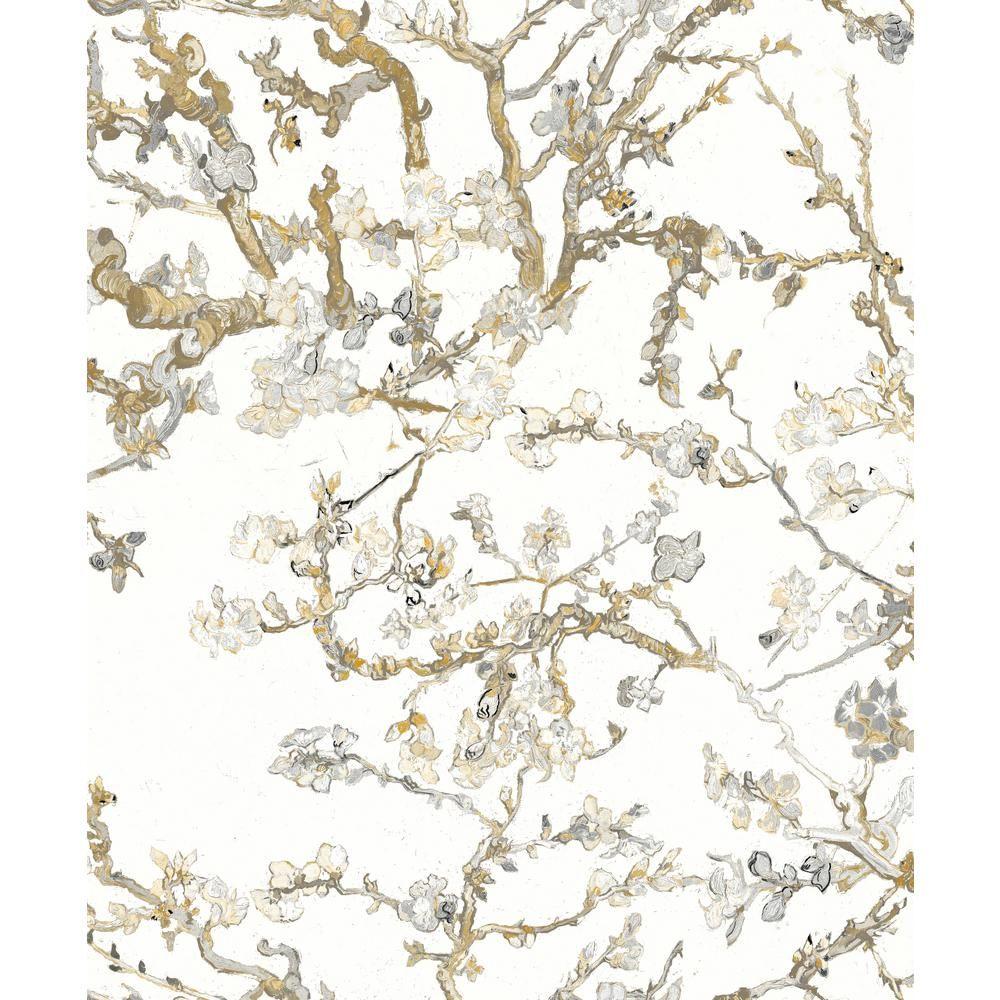 Walls Republic Almond Blossom Bold Floral Wallpaper Tan