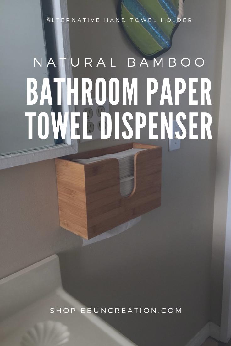 Ebun Bamboo Paper Towel Dispenser Modernpowderrooms Towel