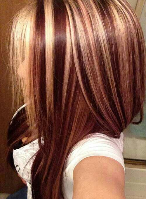 Pin By Karen Flores On Hair With Images Red Blonde Hair Red