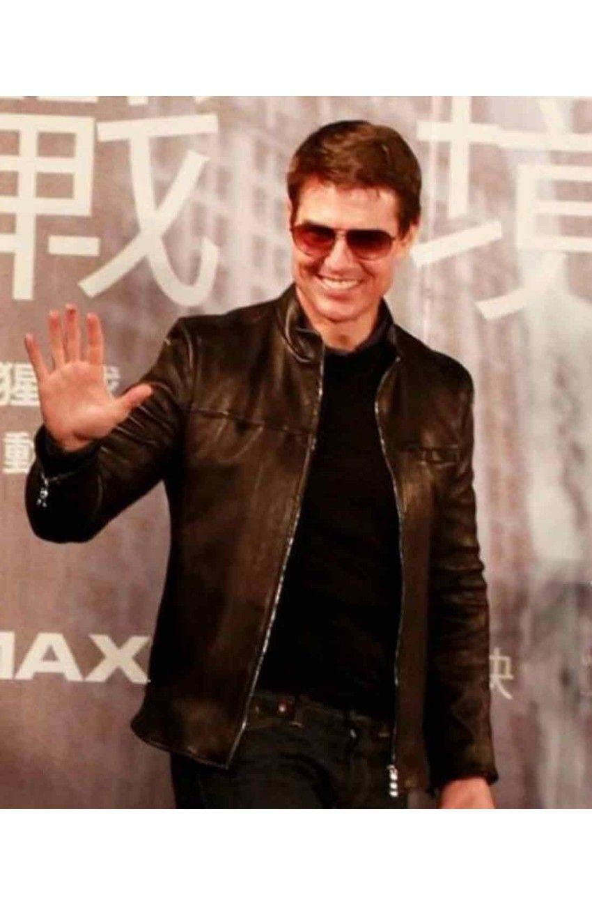 Oblivion Movie Premiere Tom Cruise Leather Jacket Movies Jacket Tom Cruise Movie Premiere Tom Cruise Movies [ 1300 x 850 Pixel ]