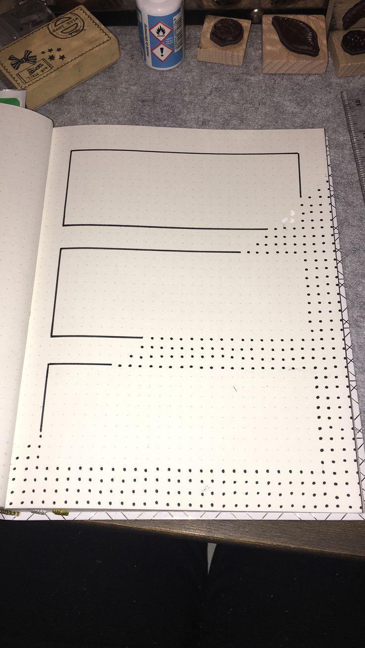 Wöchentliches Layout mit einfachen Punkten