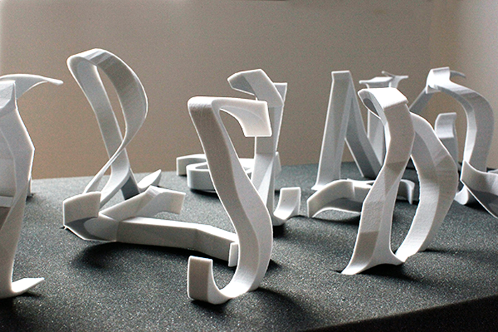 3DP Alphabet Sculpture at 3D Printshow - 3D Printing Industry