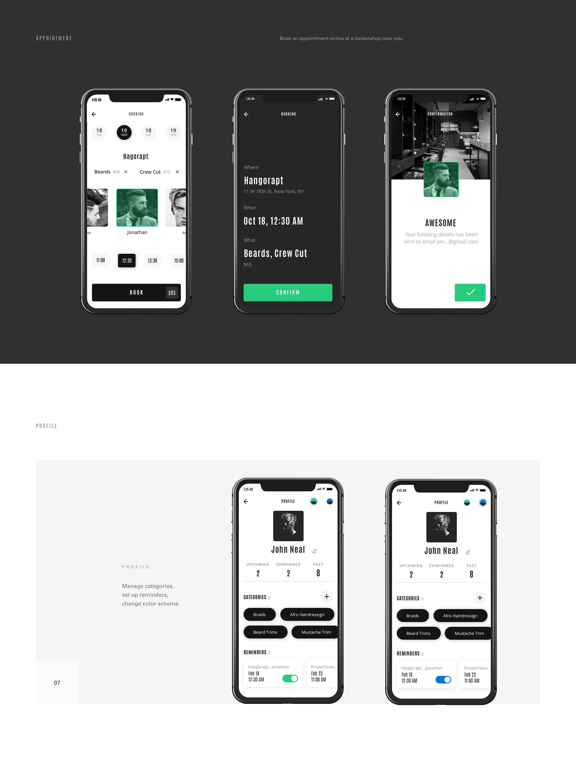 Stylist App on Behance App layout Phone accessories