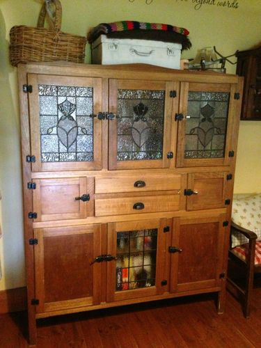 Leadlight Kitchen Dresser Kitchen Dresser Art Deco Kitchen