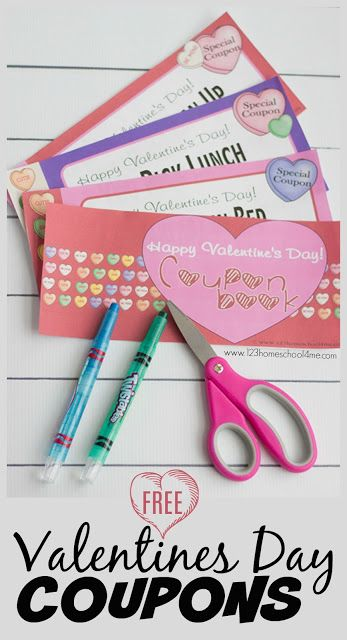 FREE Valentines Day Coupons - lots of super cute valentines day