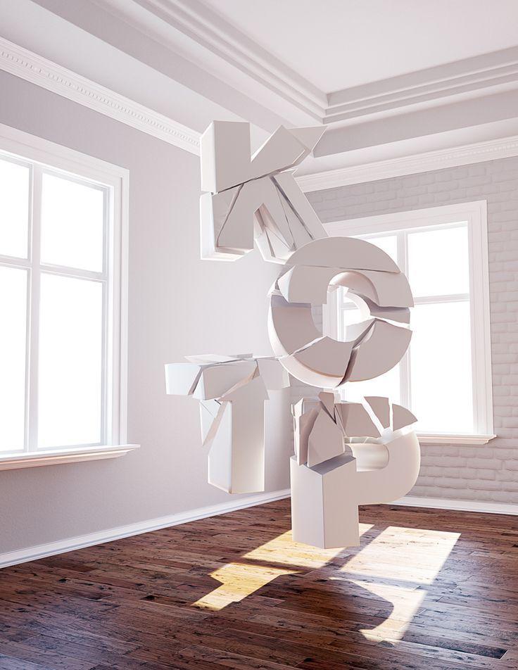 Cinema 4D | 3D | Typography design, 3d typography ...