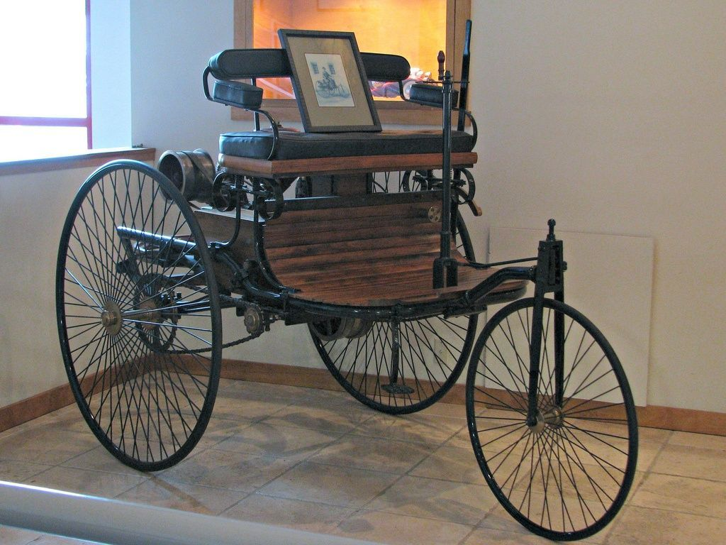The 1886 Benz Patent Moterwagen, known in car history as the oldest ...