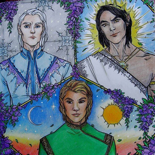 Three High Lords From A Court Of Thorns And Roses Coloring Book