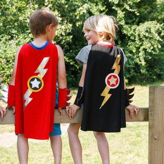 lightning bolt cape superhero cape black gold silver my christmas project capes de