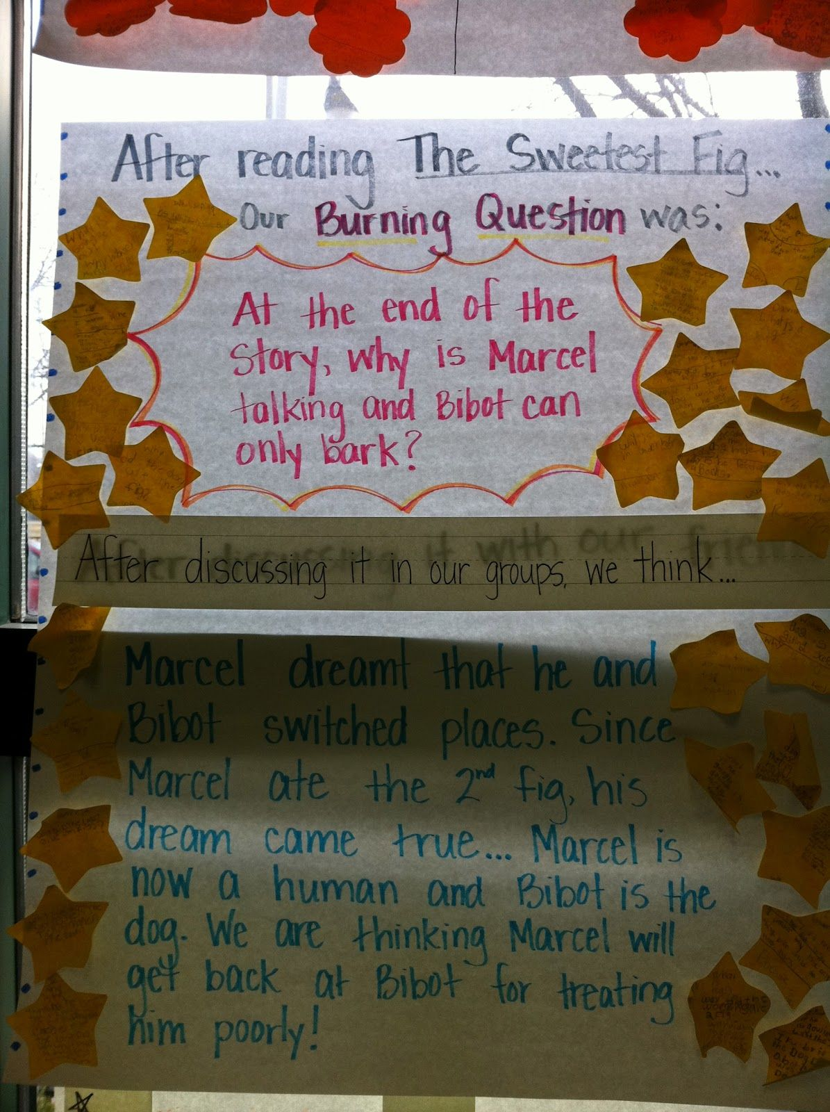 Asking questions and van allsburg burning question and