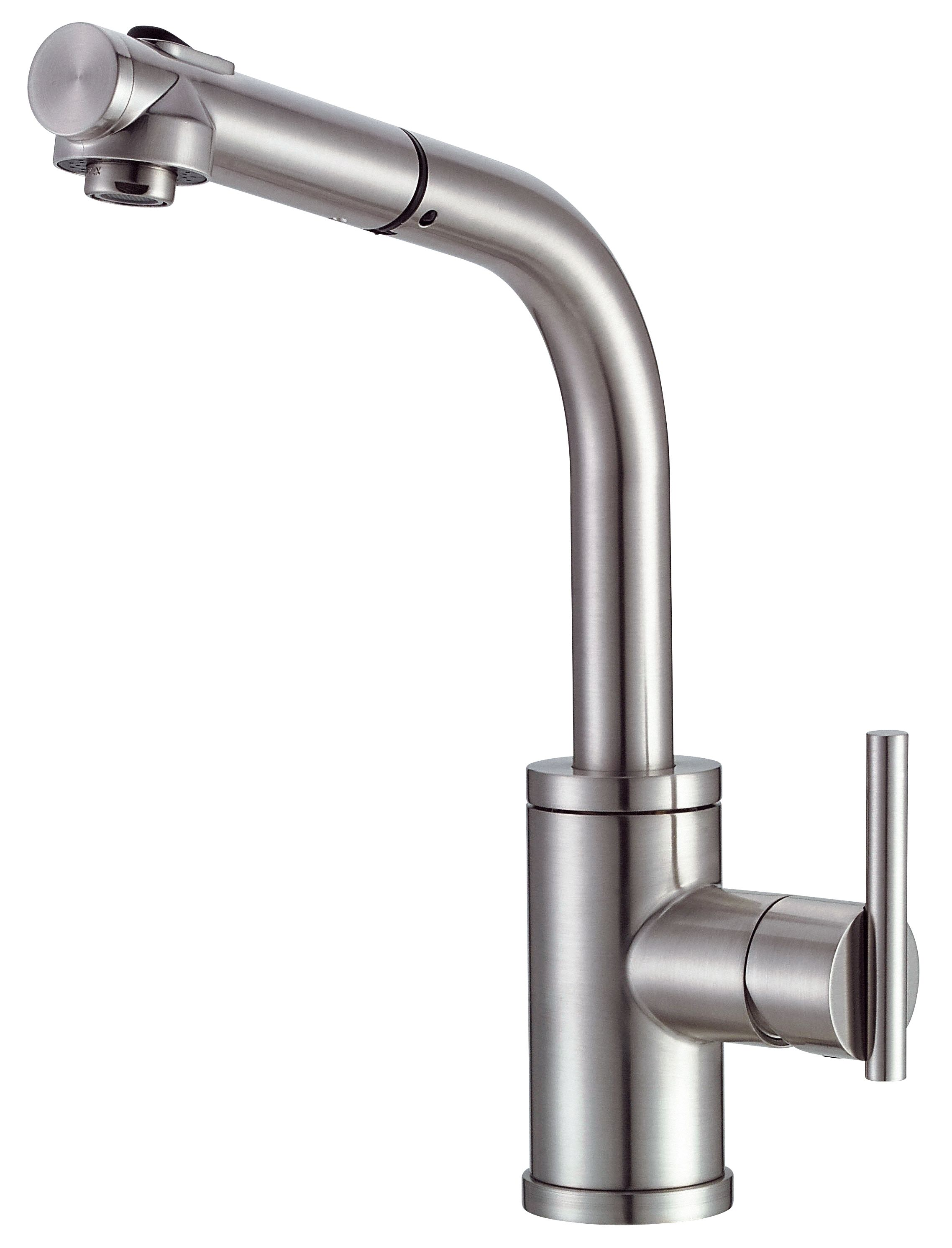 Danze Parma Stainless Steel Single Handle 1 Hole Pull out Spout