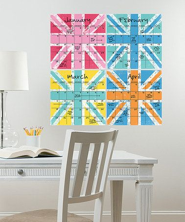 Take a look at this Jack Dry-Erase 4-Piece Calendar Set by WallPops! on #zulily today!