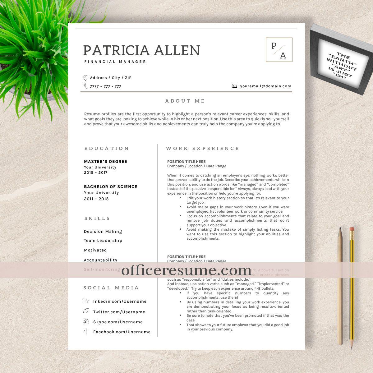 Cv Word Resume Design Resume Profile Cv Words