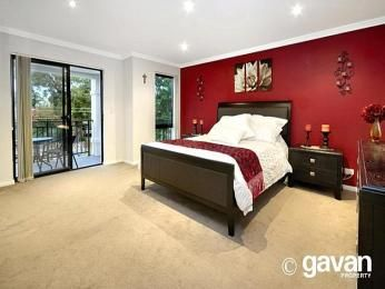 charming design red wall bedrooms | Beautiful bedroom ideas | bedroom sets I want for my new ...