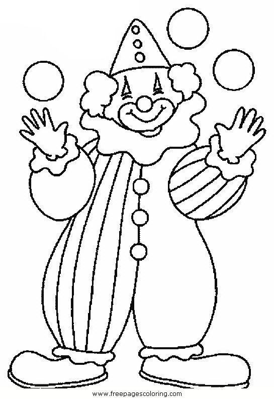 Clown Coloring Pages Circus Clowns Coloring Pages Quad