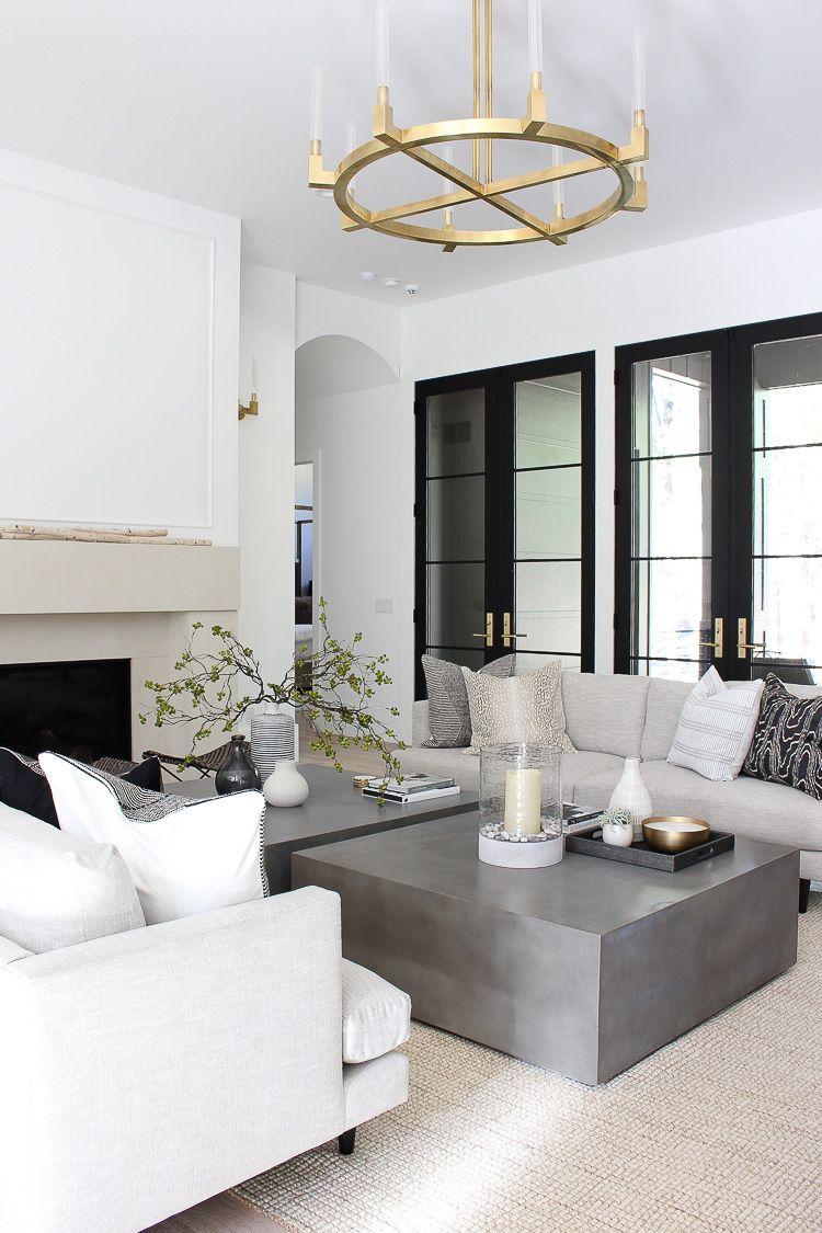 Our Sleek Minimalist Living Room Chandelier In Living Room