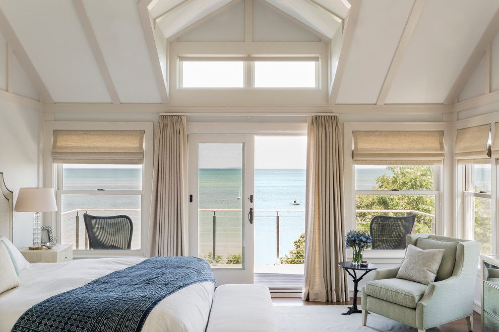 Bedroom Decorating Ideas New England Style this master bedroom suite has some of the best views in the house